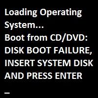 Hard Disk Boot Failure